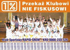 Rusza akcja 1% podatku za 2012 rok na klub Rapid Śrem
