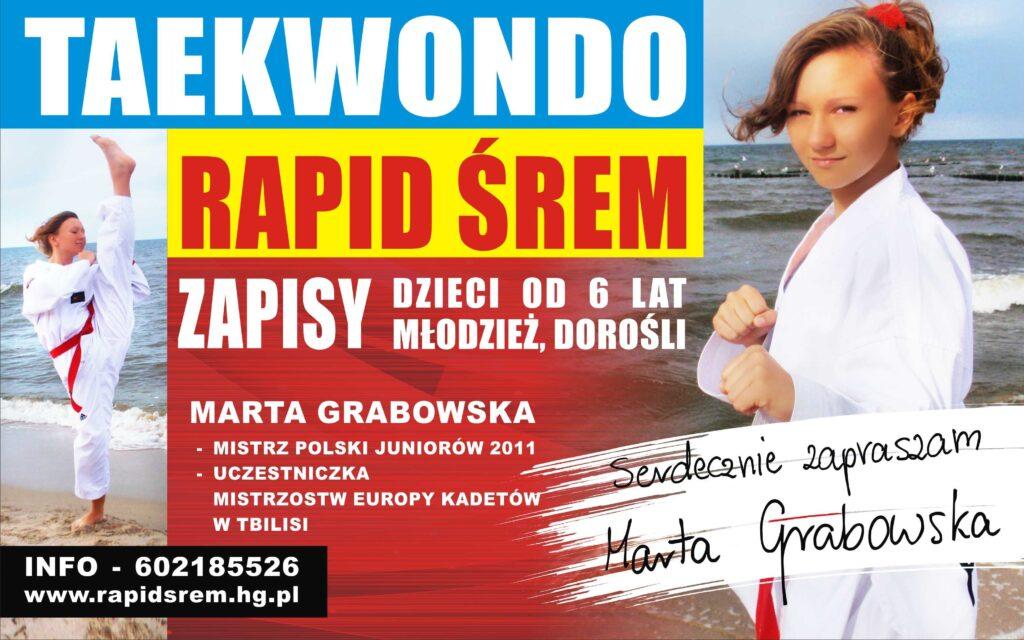 Ogłaszamy nabór do sekcji taekwondo na sezon 2012