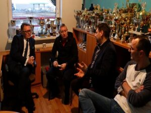 Burmistrz Adam Lewandowski w klubie Rapid