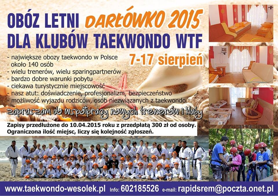 Dokumenty uczestnika obozu lato 2015 do pobrania