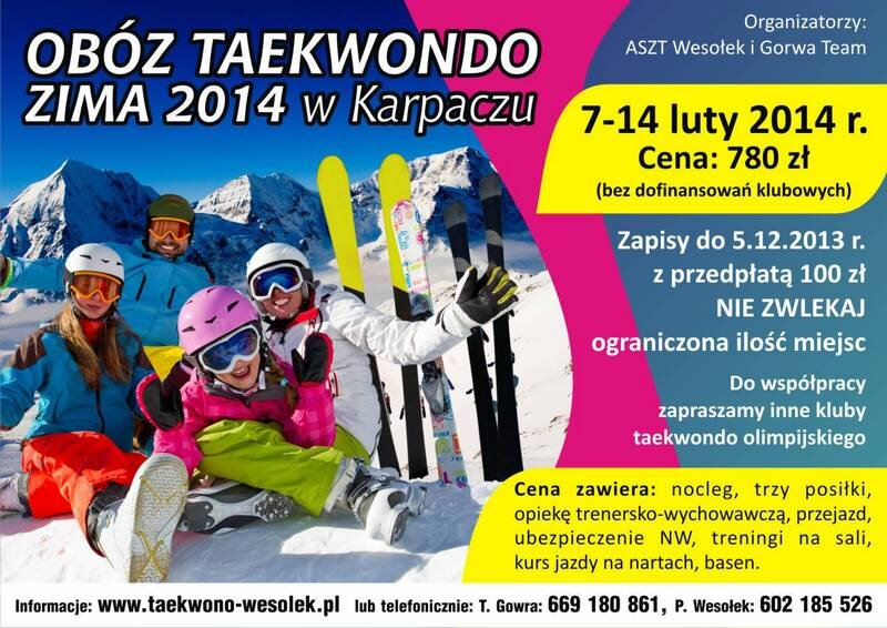 Zapisy na obóz zima 2013 Karpacz 7-14.02.2014