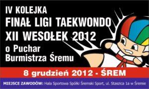 Finał XII Ligi Taekwondo Wesołek Śrem 2012 - relacja