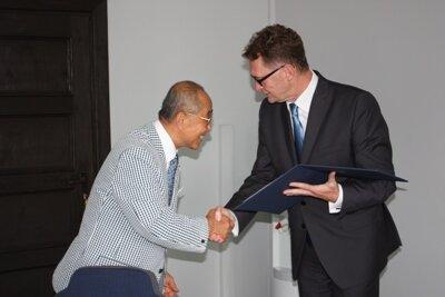 Burmistrz Adam Lewandowski otrzymał IV Dan w taekwondo