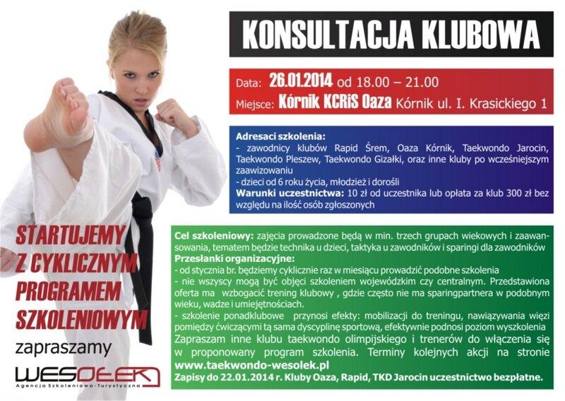 Konsultacja klubowa 26.01.2014 r w Kórniku