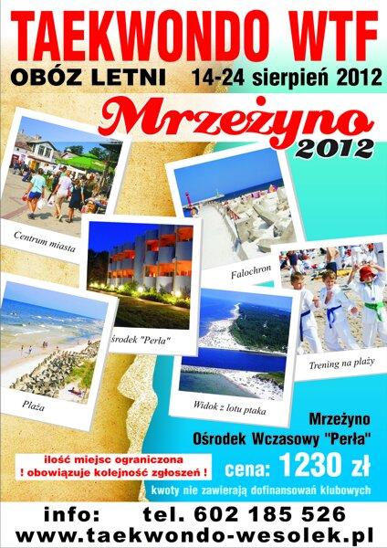 Obóz lato 2012 w Mrzeżynie. Zapisy trwają do 10 kwietnia br.